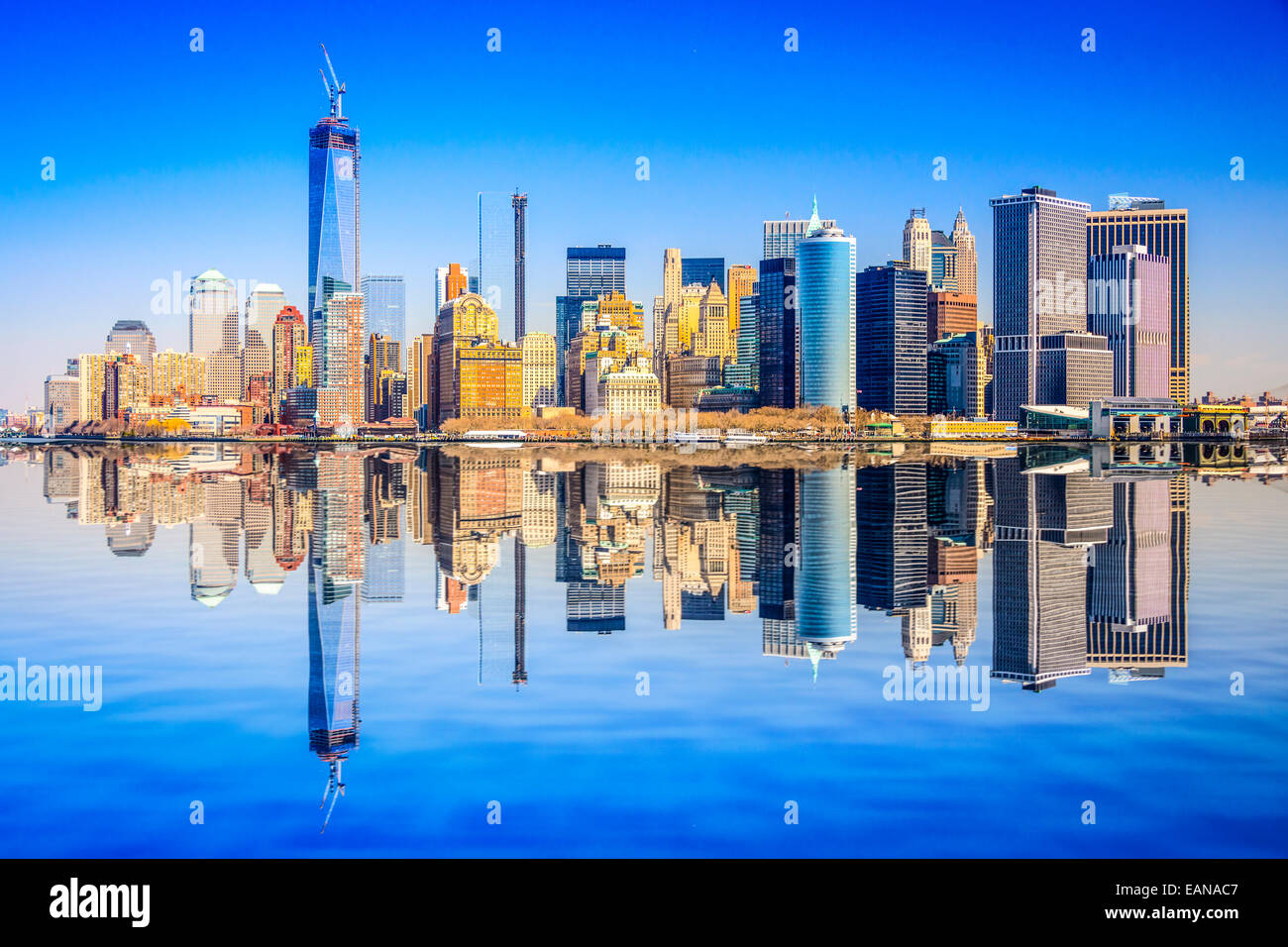 New York City, USA city skyline of Lower Manhattan. - Stock Image