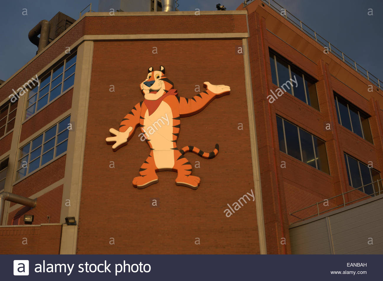 the sun shining on the tony the tiger cartoon character the motif