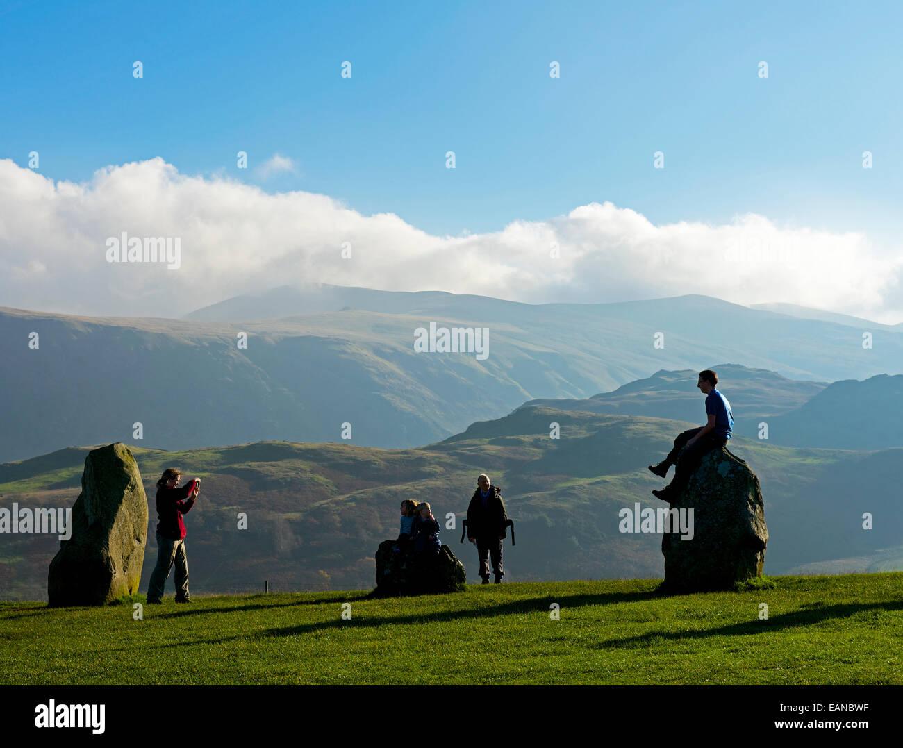 Castlerigg stone circle, near Keswick, Lake District National Park, Cumbria, England UK - Stock Image