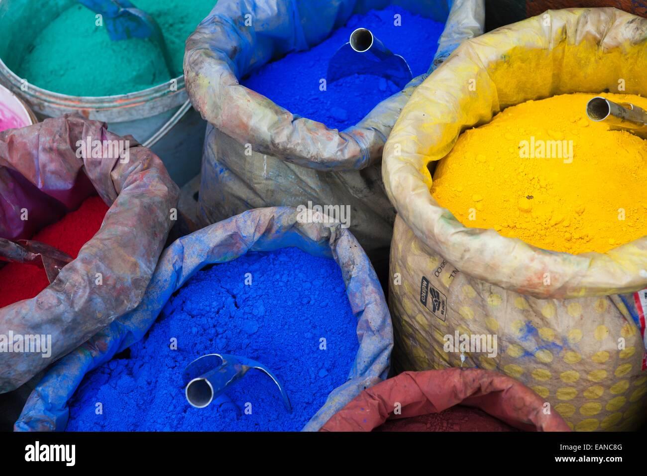 colour powder, istanbul - Stock Image