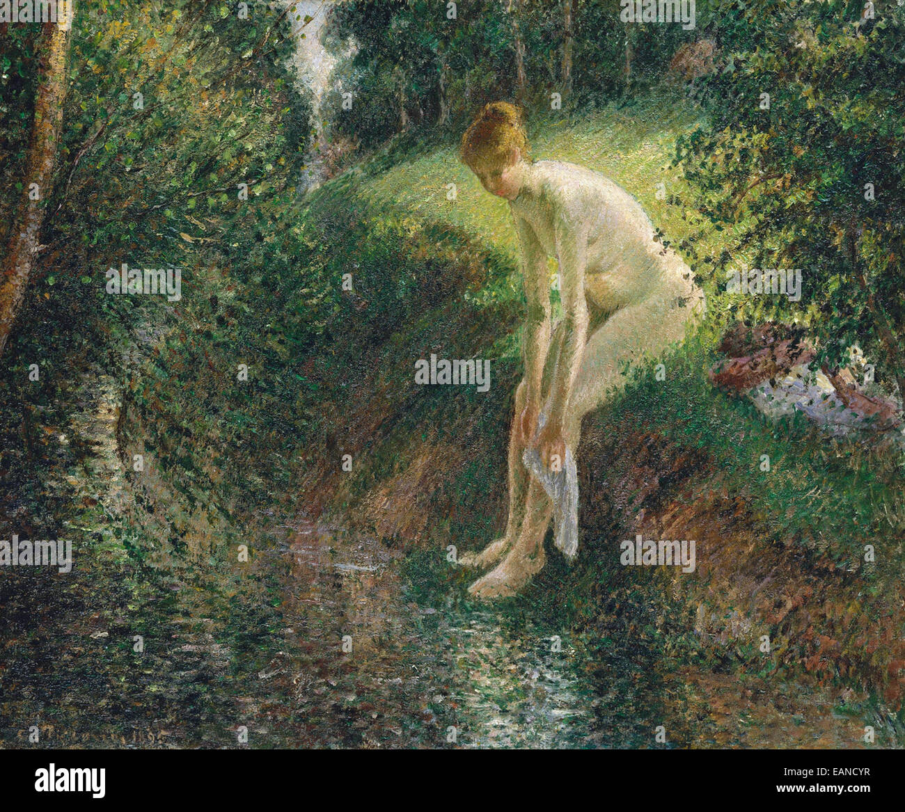 Camille Pissarro  Bather in the Woods - Stock Image