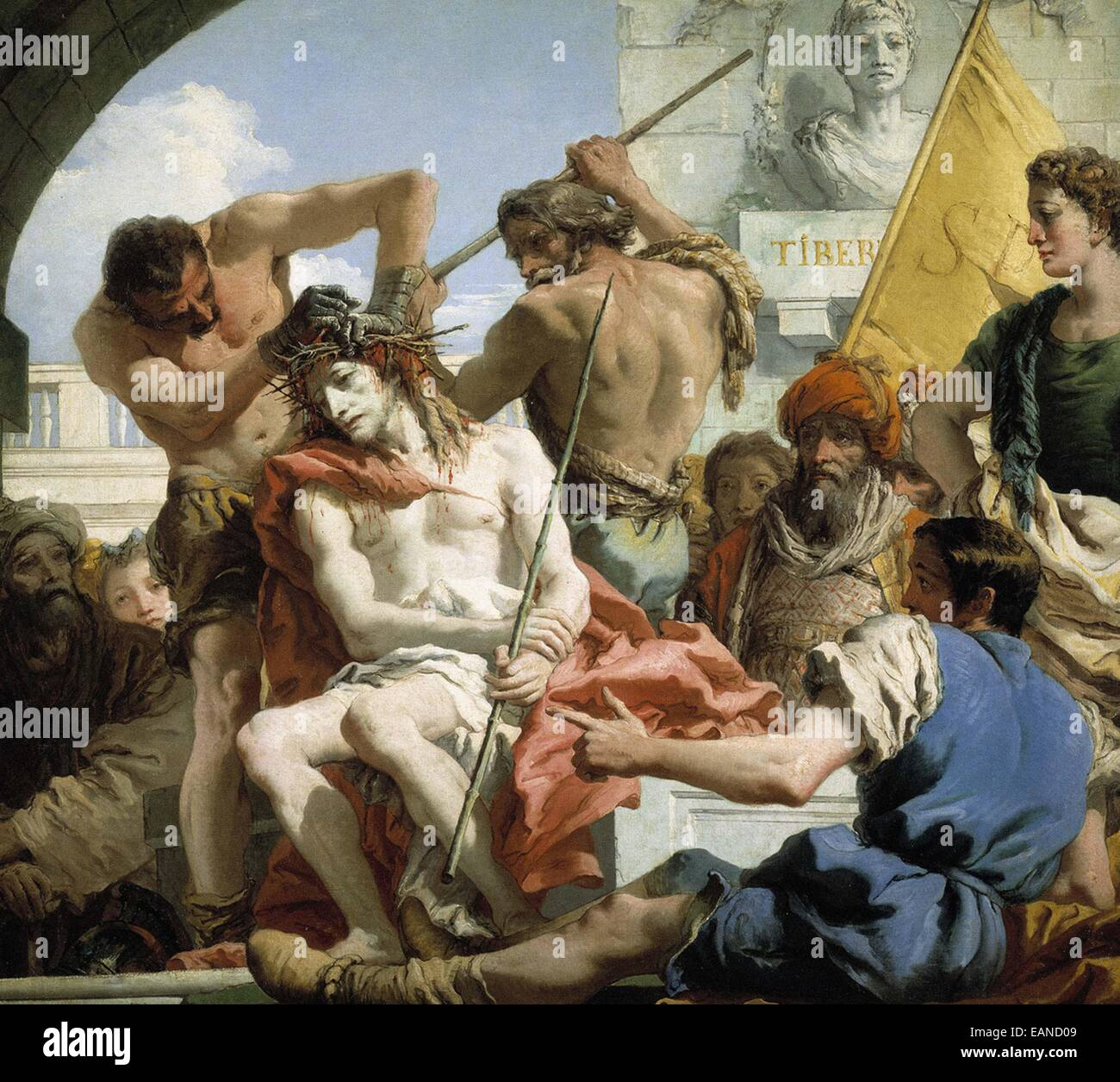 Giandomenico Tiepolo  The Crown of Thorns Stock Photo
