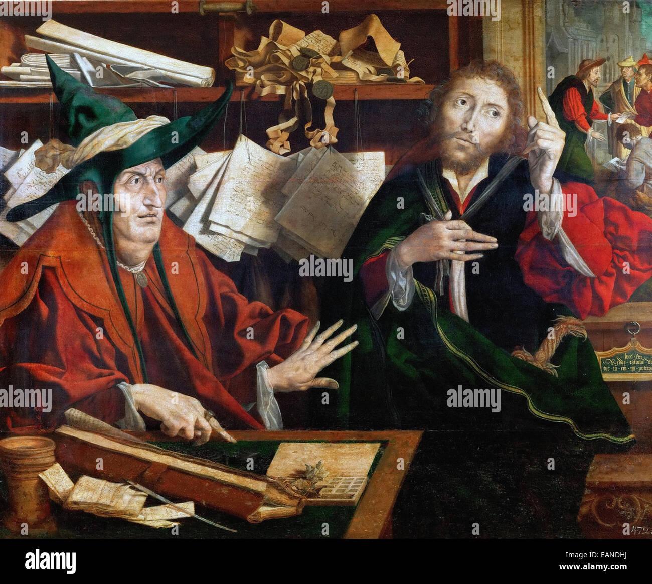 Marinus van Reymerswaele  The Parable of the Unfaithful Steward - Stock Image