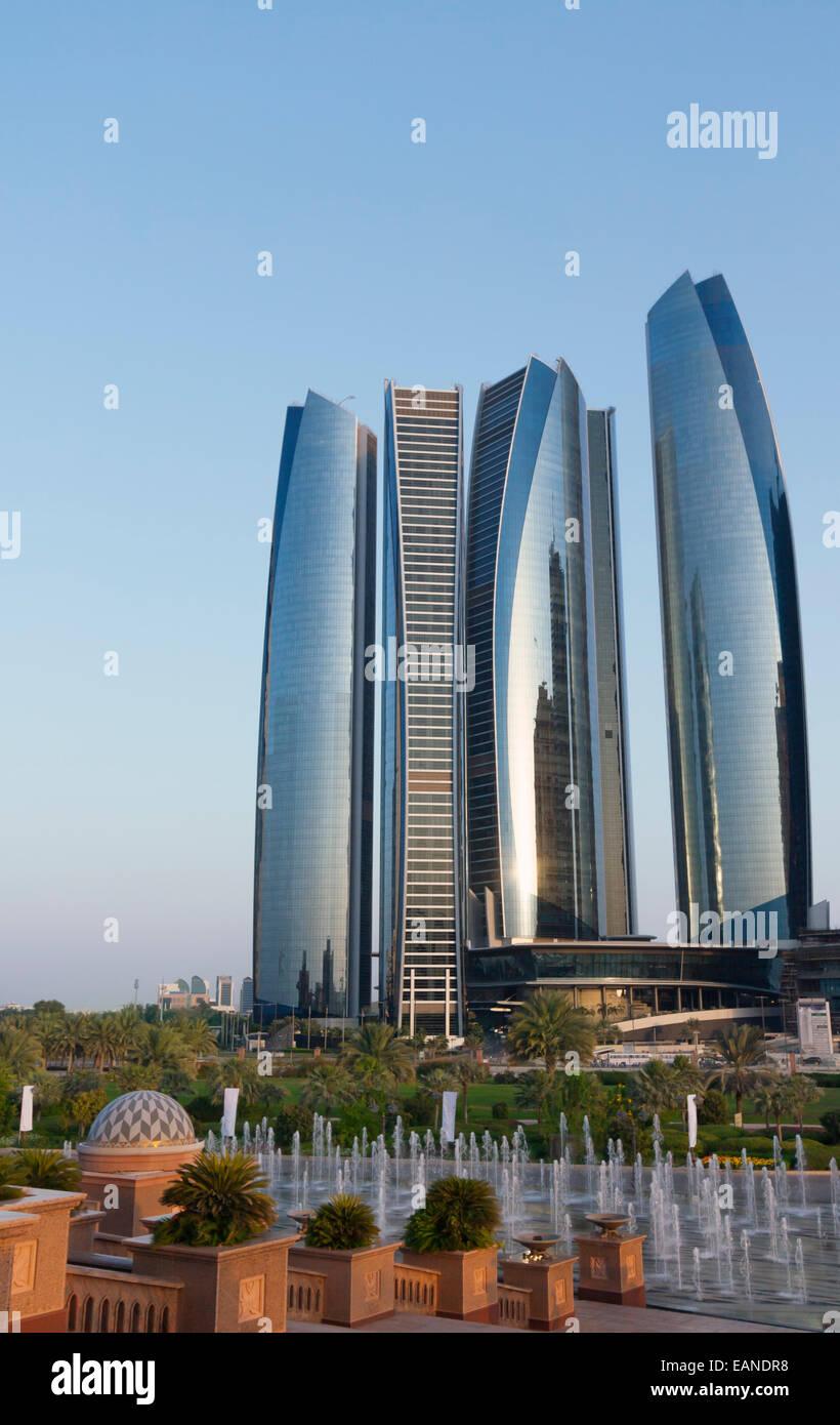 Etihad Towers, Abu Dhabi, United Arab Emirates. - Stock Image