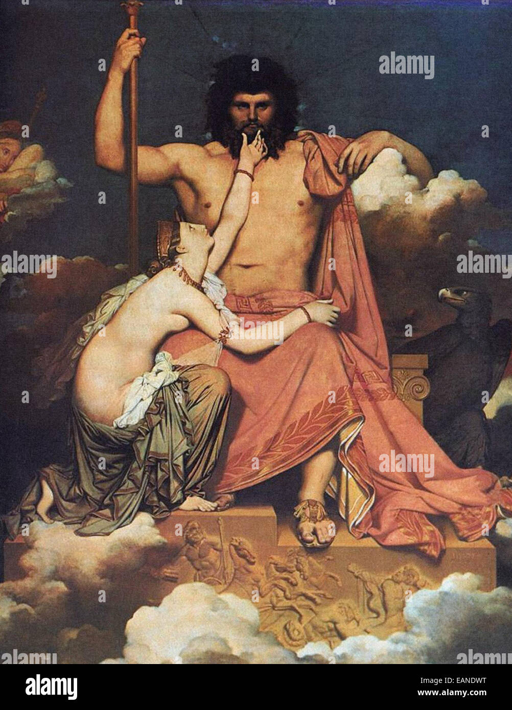 Jean-Auguste-Dominique Ingres  Jupiter and Thetis - Stock Image