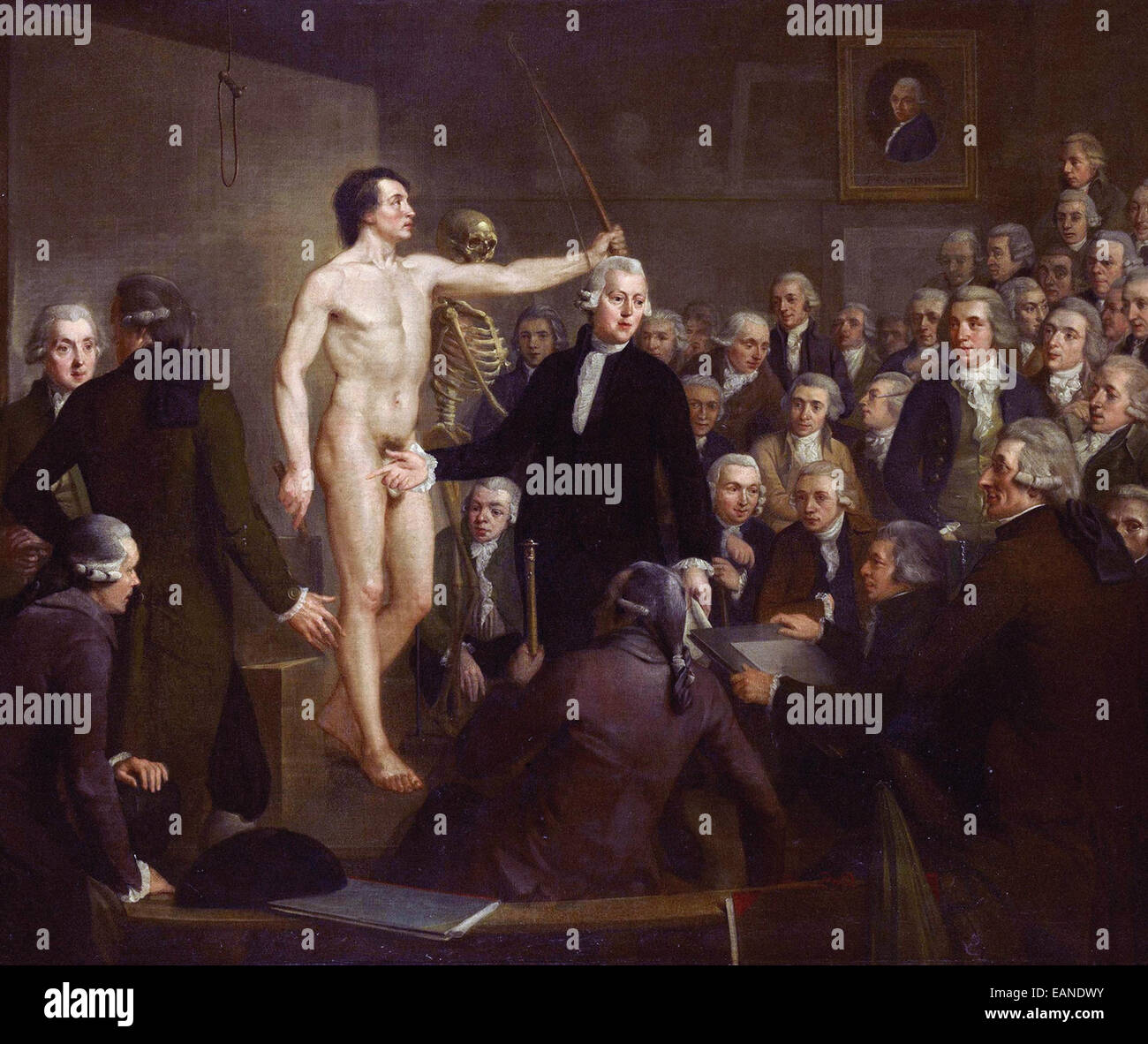 Adriaan de Lelie  Lecture on Anatomy by Andreas Bonn - Stock Image