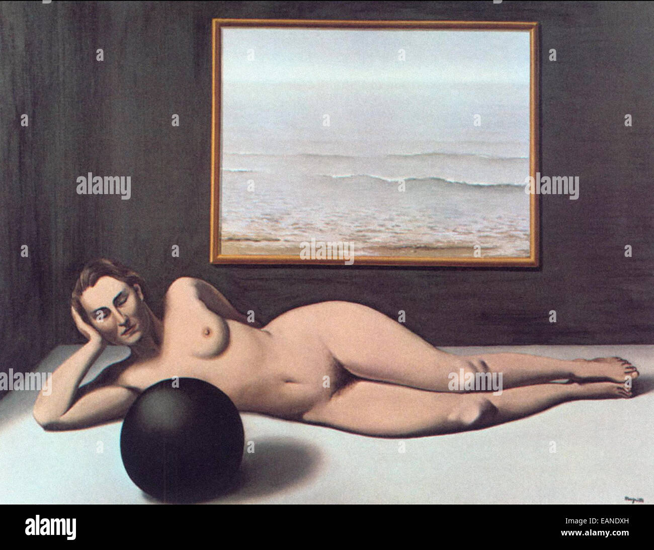 René Magritte  Bather between Light and Darkness - Stock Image