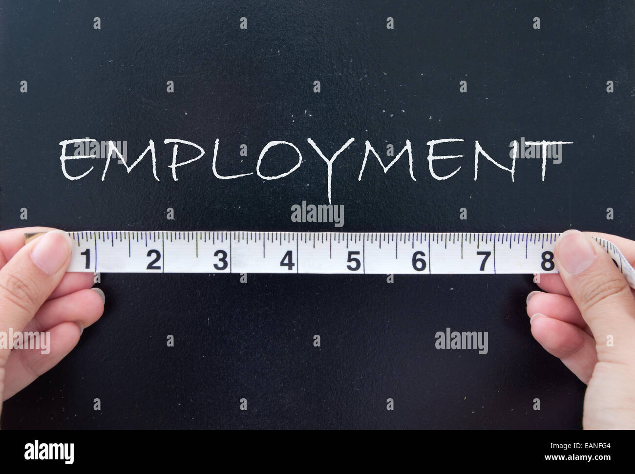 Measuring employment - Stock Image