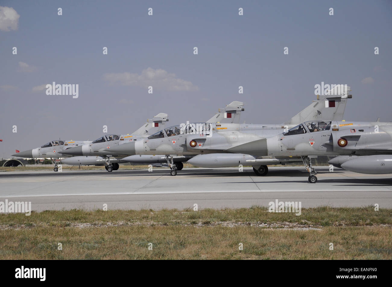 A group of Dassault Mirage 2000-5EDA/DDA of the Qatar Emiri