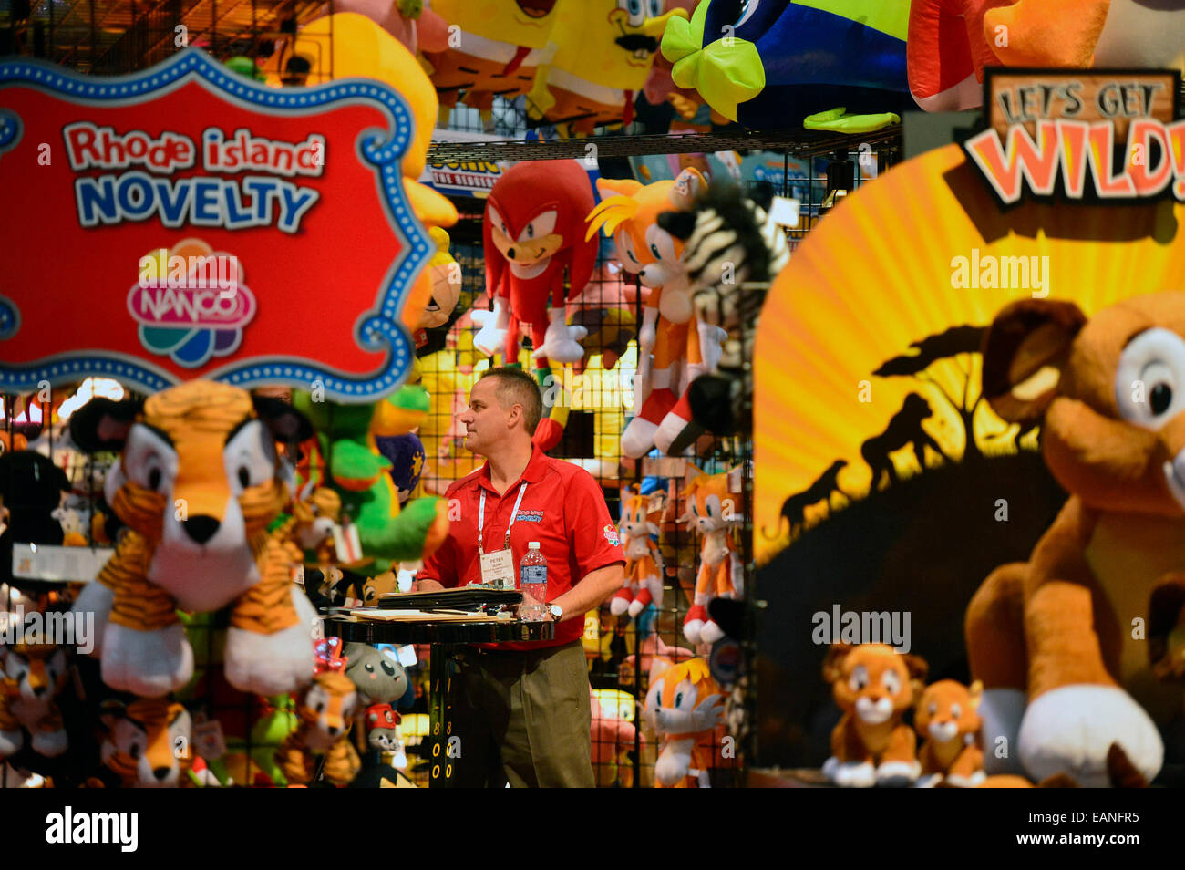 Exhibition Stands In Orlando : Orlando us. 18th nov 2014. a work personnel stands at his stock