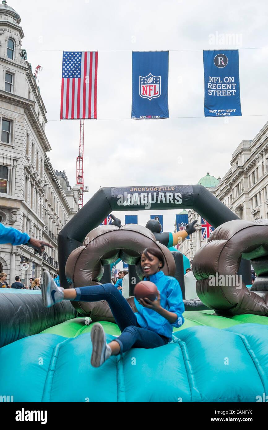 NFL in Regent Street, London, September 27th 2014 - Stock Image