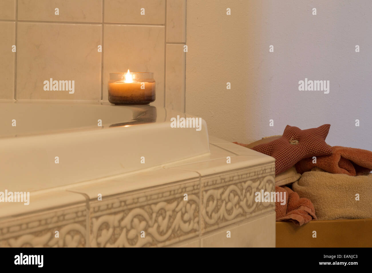 Bathroom Jacuzzi Tub Tile Details Stock Photo: 75463475 - Alamy