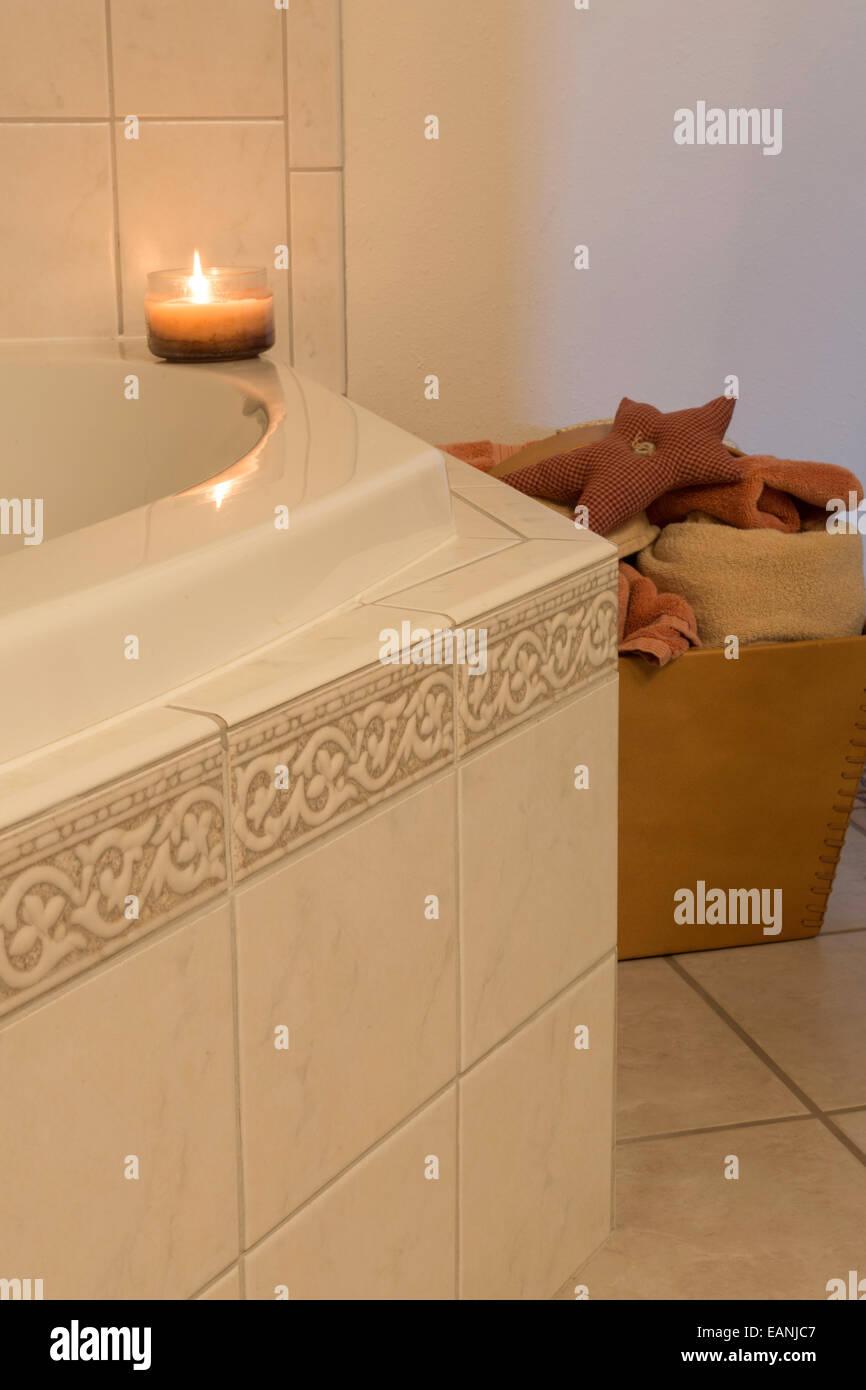 Traditional Bathroom Jacuzzi Tub Stock Photos & Traditional Bathroom ...