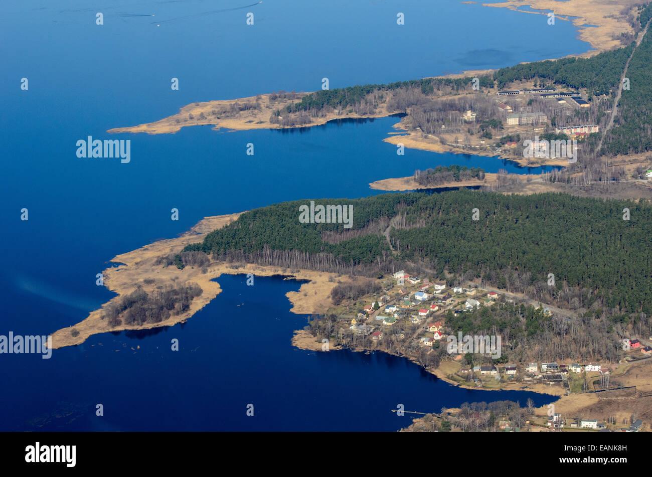 Jagged oast of Lake Kisezers, Latvia - Stock Image