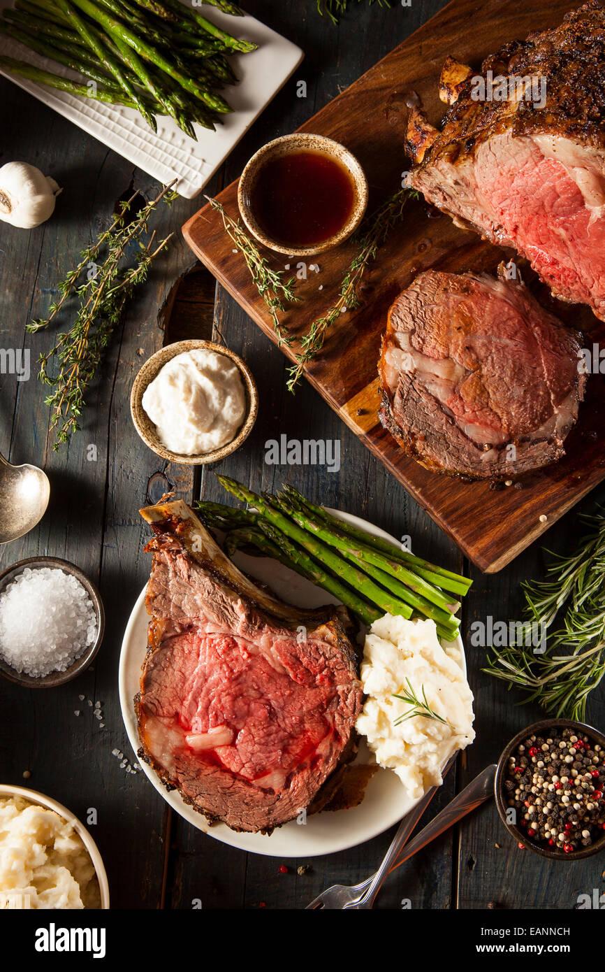 Prime Rib Steak Stock Photos & Prime Rib Steak Stock Images