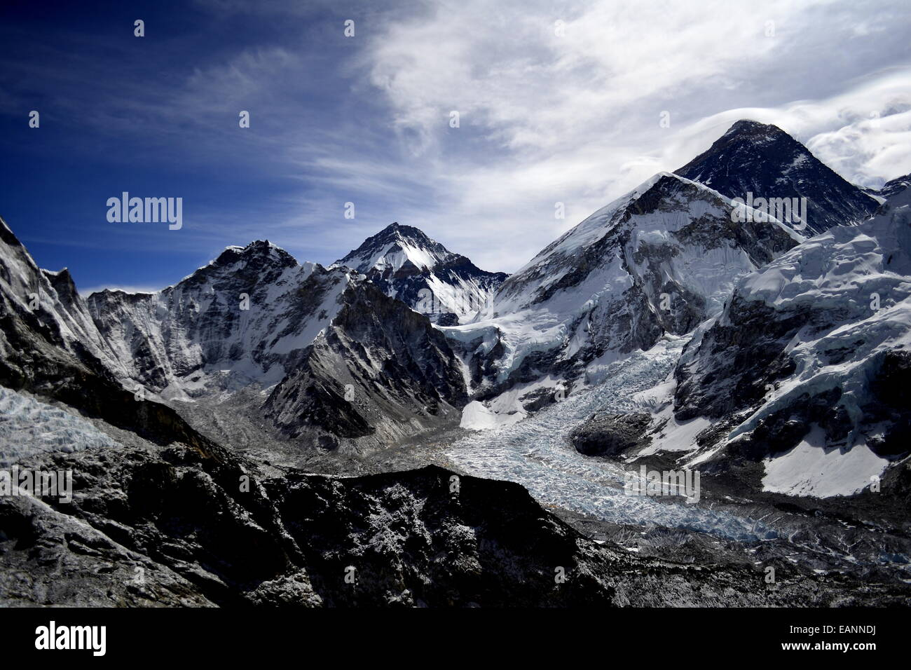 View of Mount Everest from Kala Patthar - Stock Image