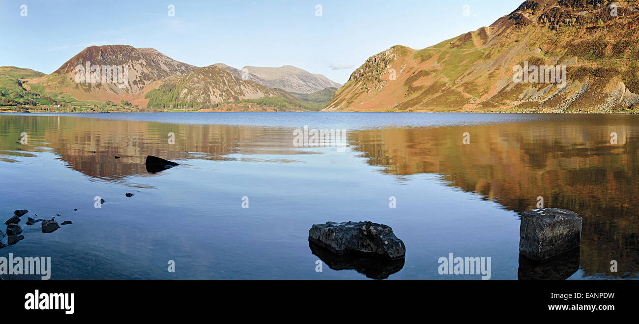 Ennerdale water a site of special scientific interest due to its unspoilt nature which comes from it being relatively - Stock Image
