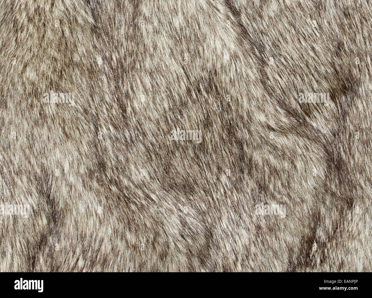 Faux fur fabric for the fashion industry used to artificially recreate animal pelts including reindeer and coyote. - Stock Image