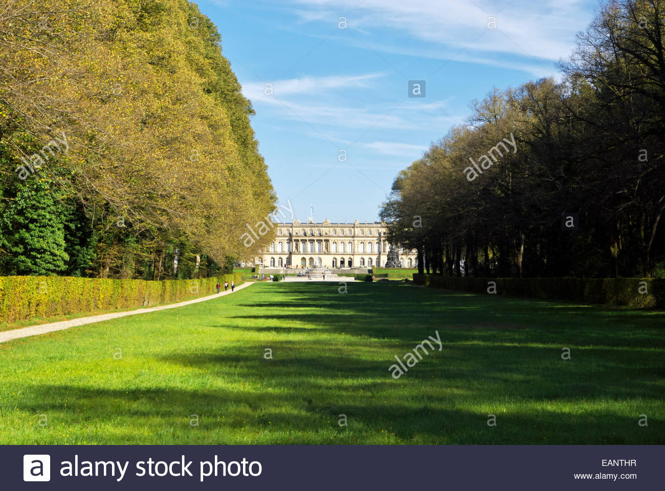Former Benedictine abbey Herrenchiemsee on island of Herreninsel, purchased and converted to a palace by Ludwig - Stock Image