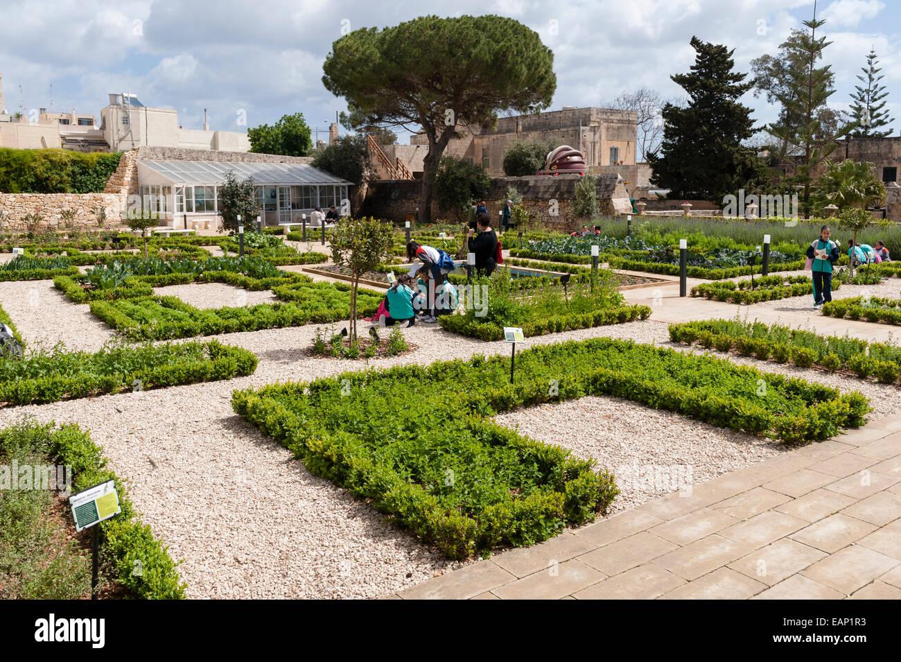 The President's Kitchen Garden, Attard, Malta. - Stock Image