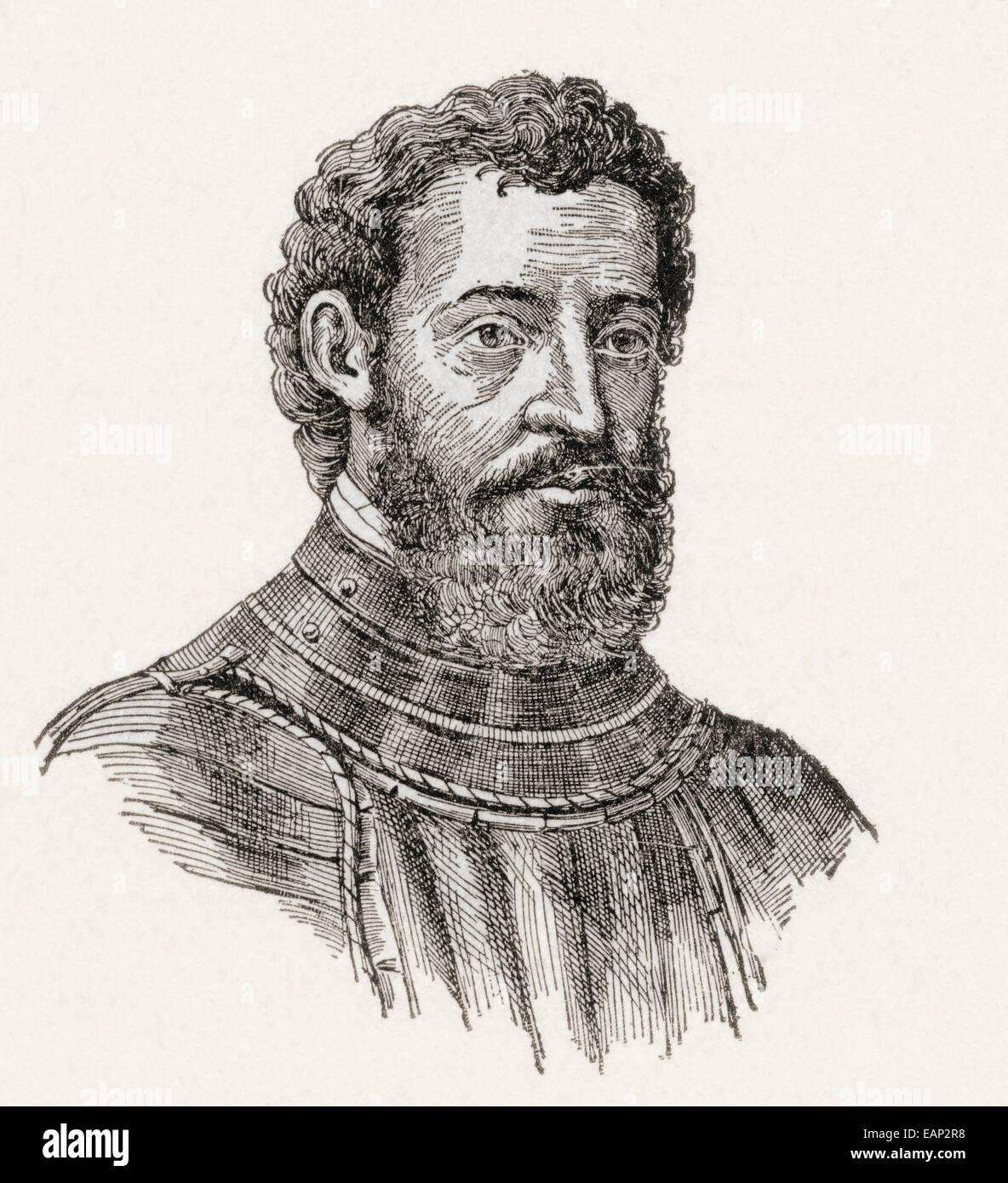 Giovanni da Verrazzano or Verrazano, 1485–1528.  Florentine explorer of North America. - Stock Image