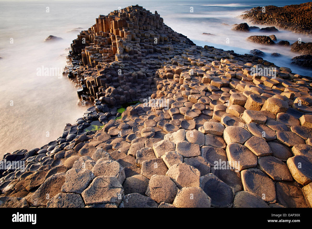 Giant's Causeway Northern Ireland - Stock Image