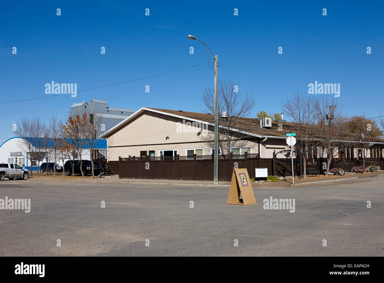 the big muddy inn in the centre of bengough Saskatchewan Canada - Stock Image