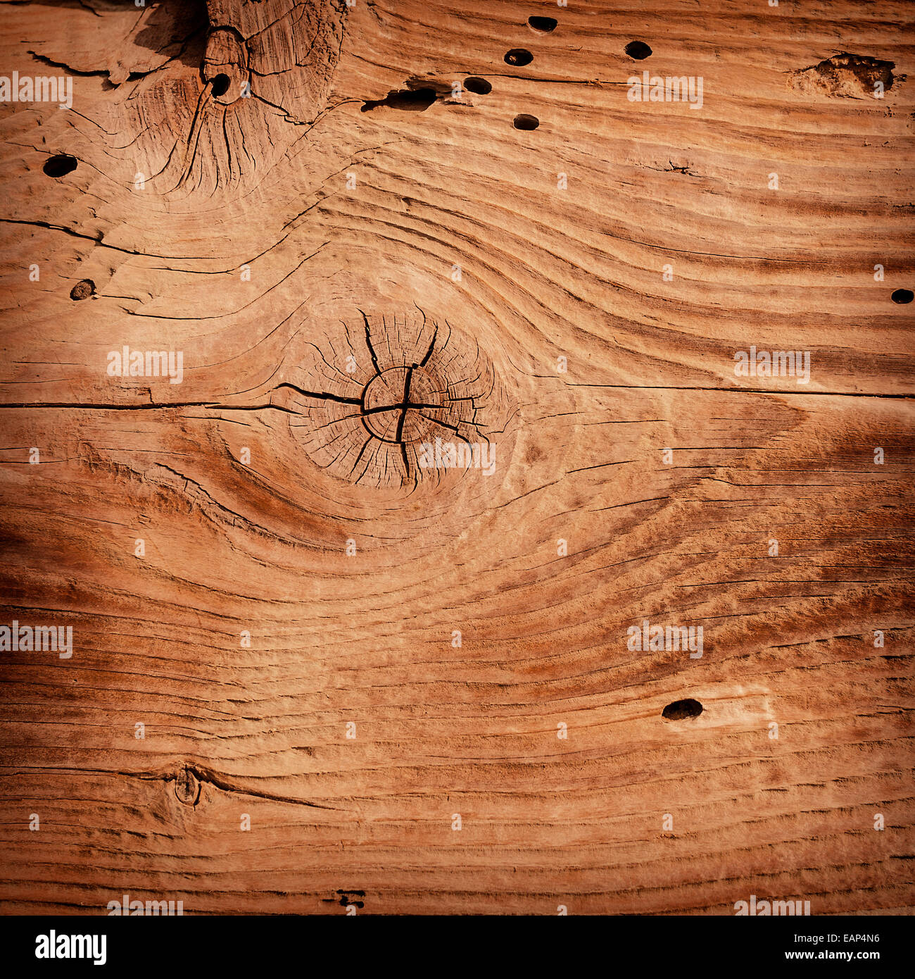 Wooden background texture. A square abstract photo. - Stock Image
