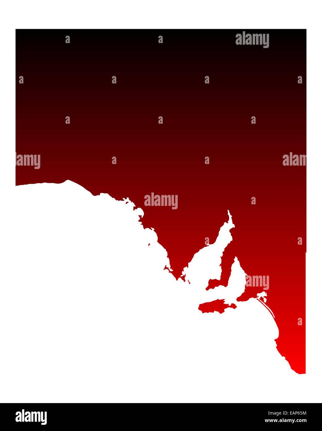Map of South Australia - Stock Image