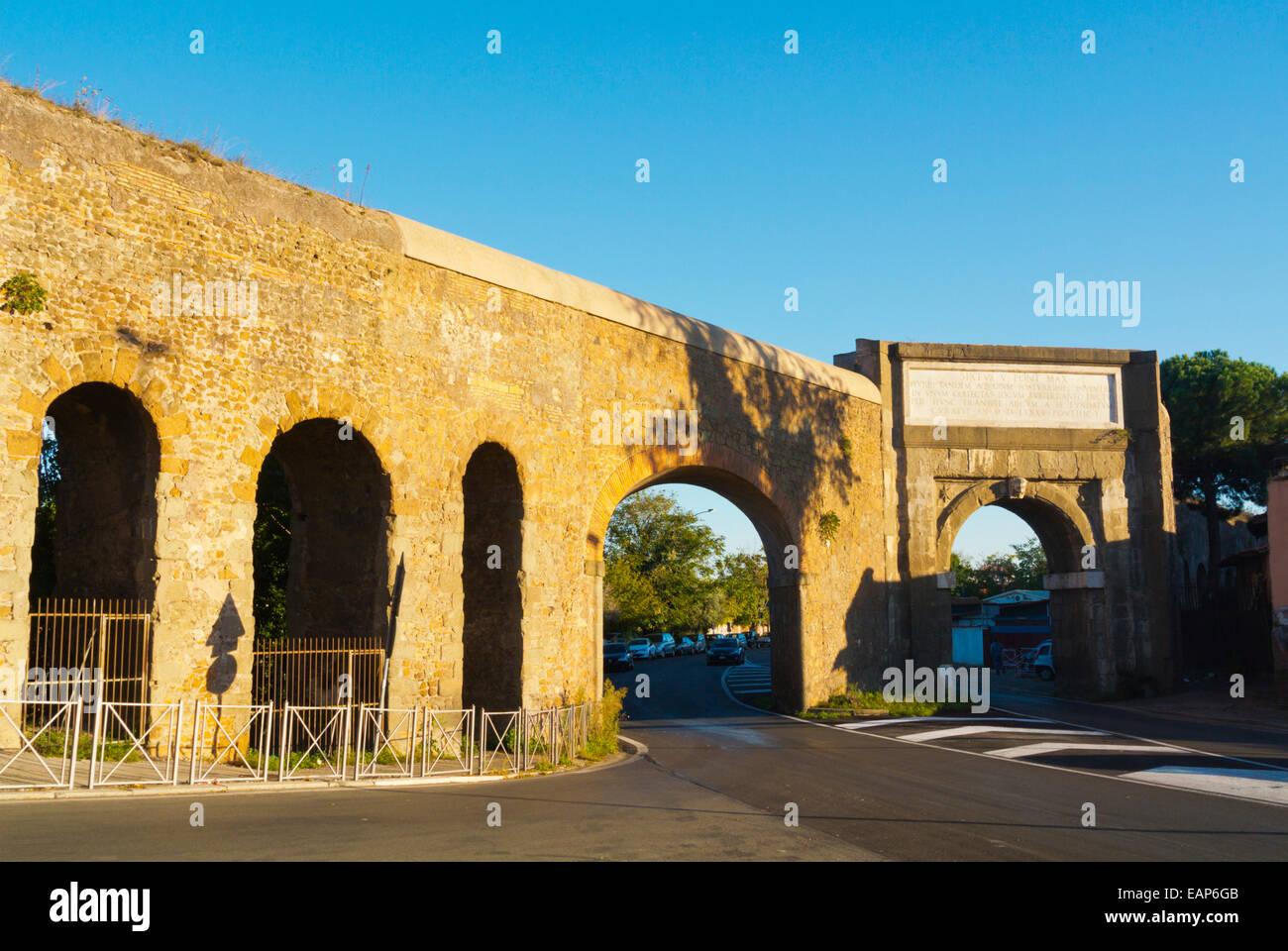 Acqua Felice, Felix or Felice aquaduct, Parco di Torre Fiscale, Rome, Italy - Stock Image