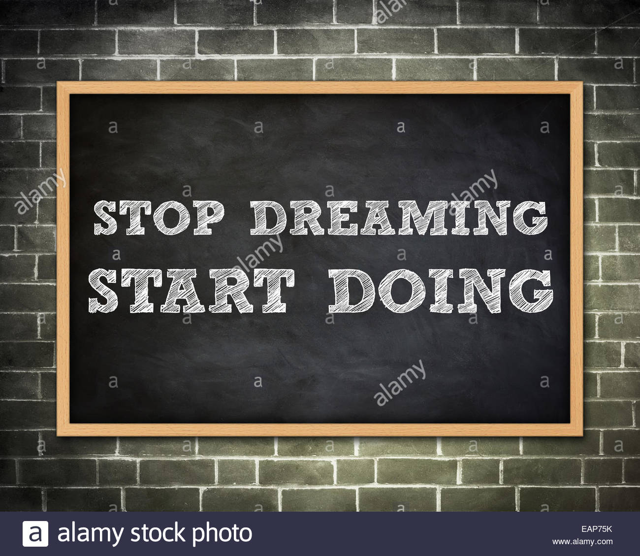 START DOING - blackboard concept - Stock Image
