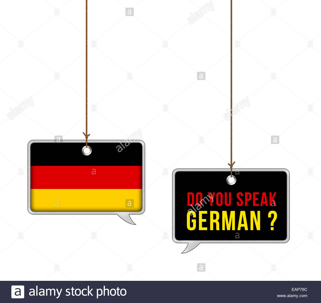 Learn German language - illustration concept - Stock Image