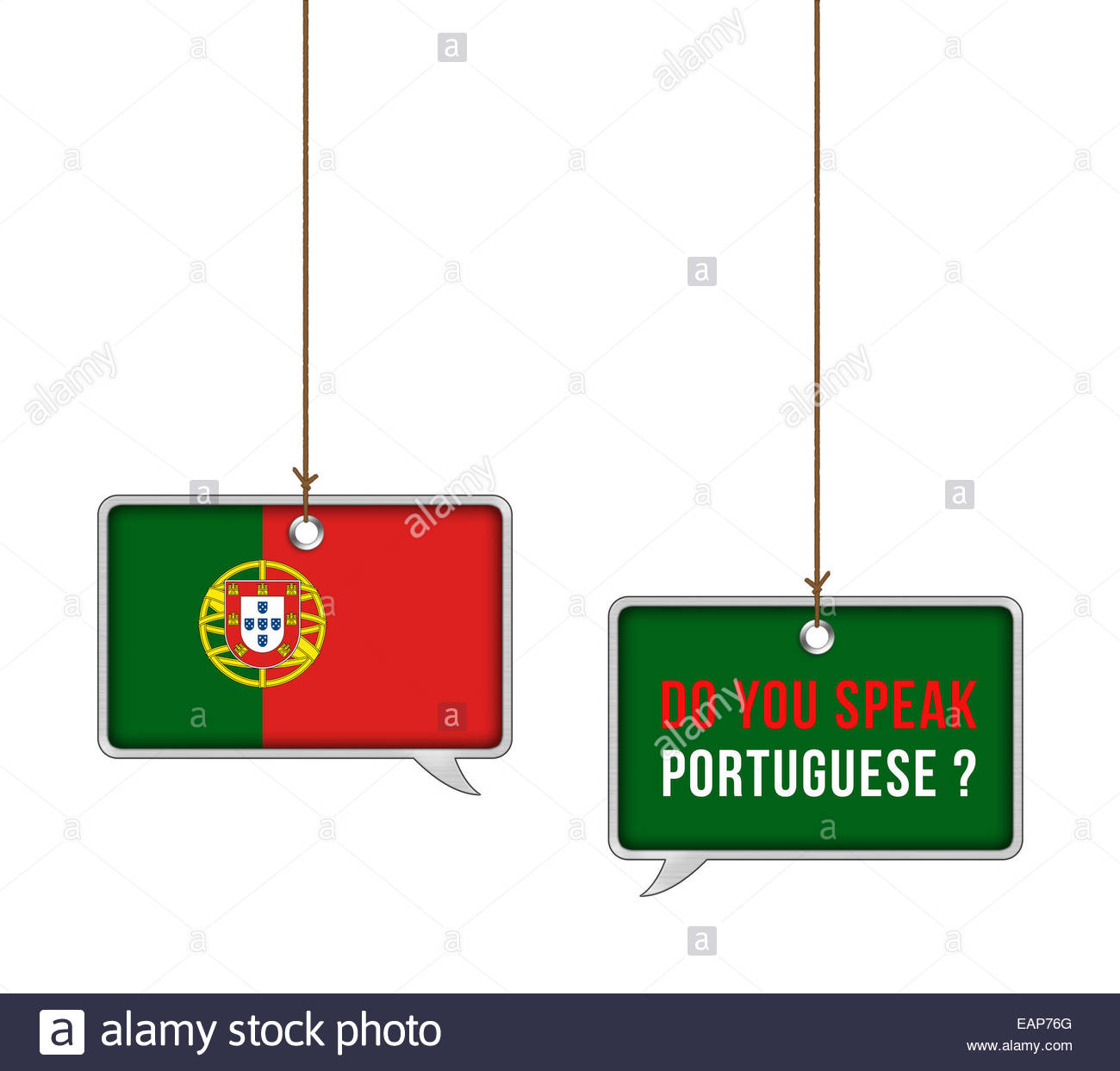 Learn Portuguese language - illustration concept Stock Photo