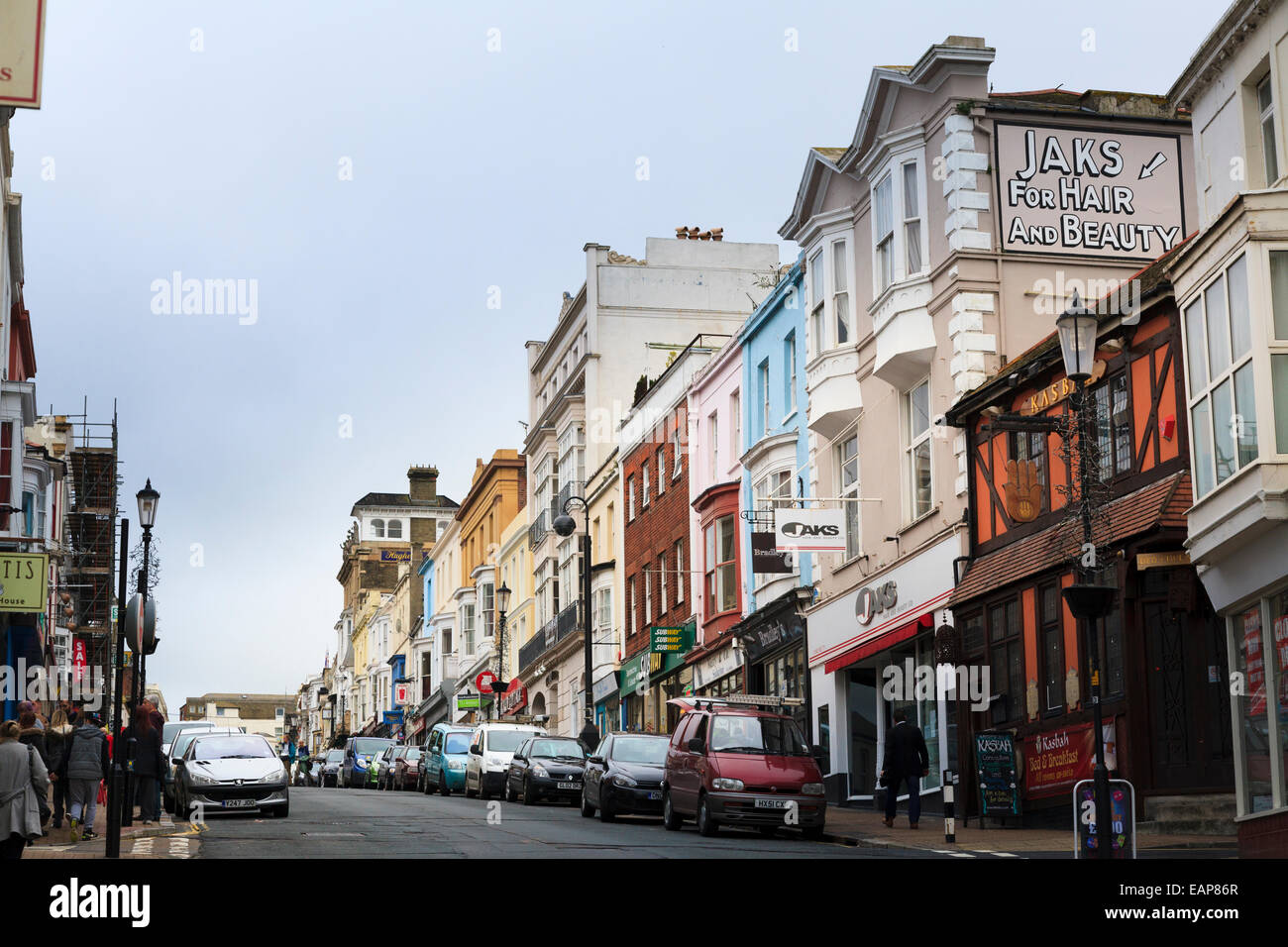 Looking up Union Street Ryde Isle of Wight Stock Photo
