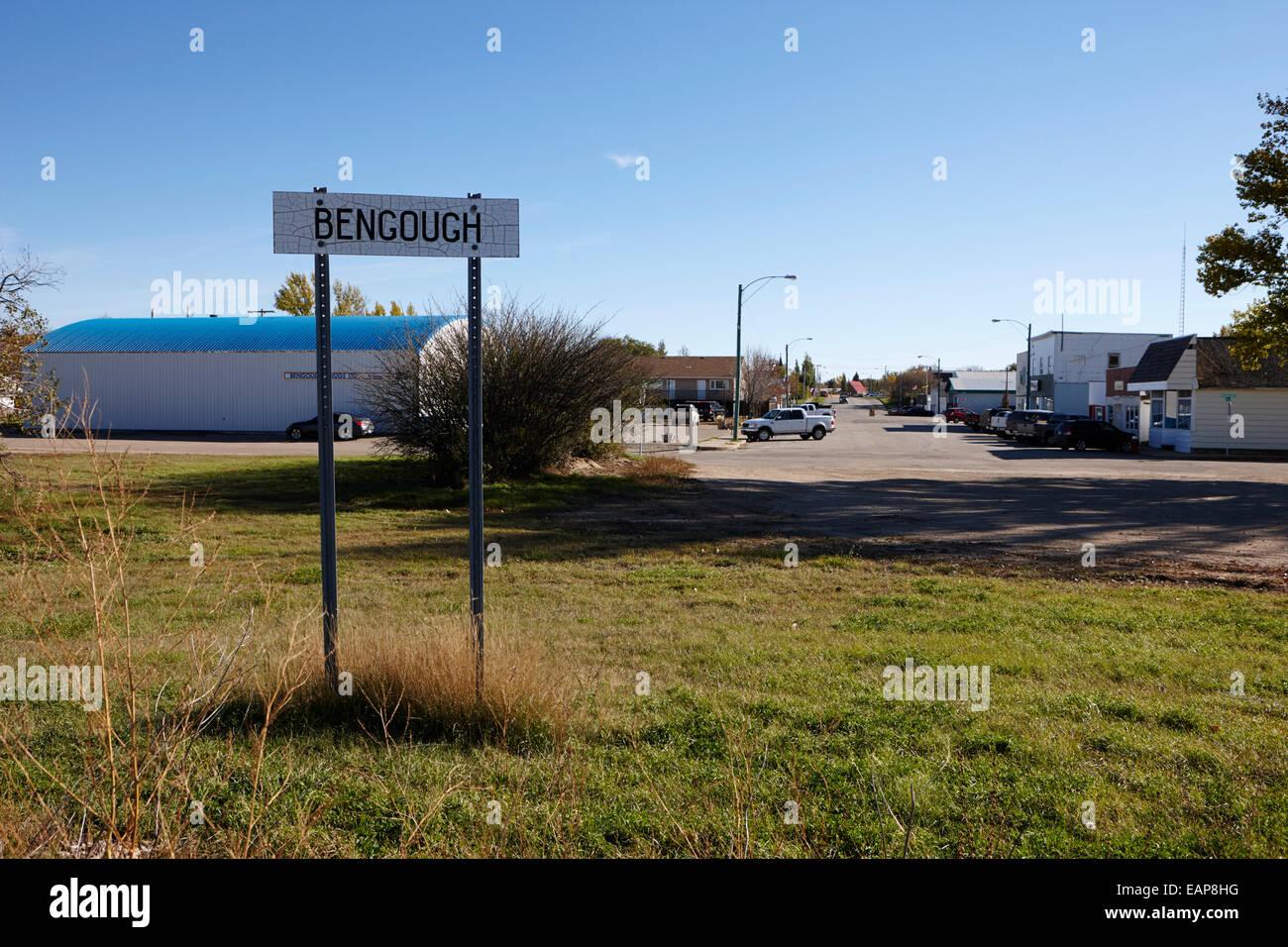 bengough town Saskatchewan Canada - Stock Image