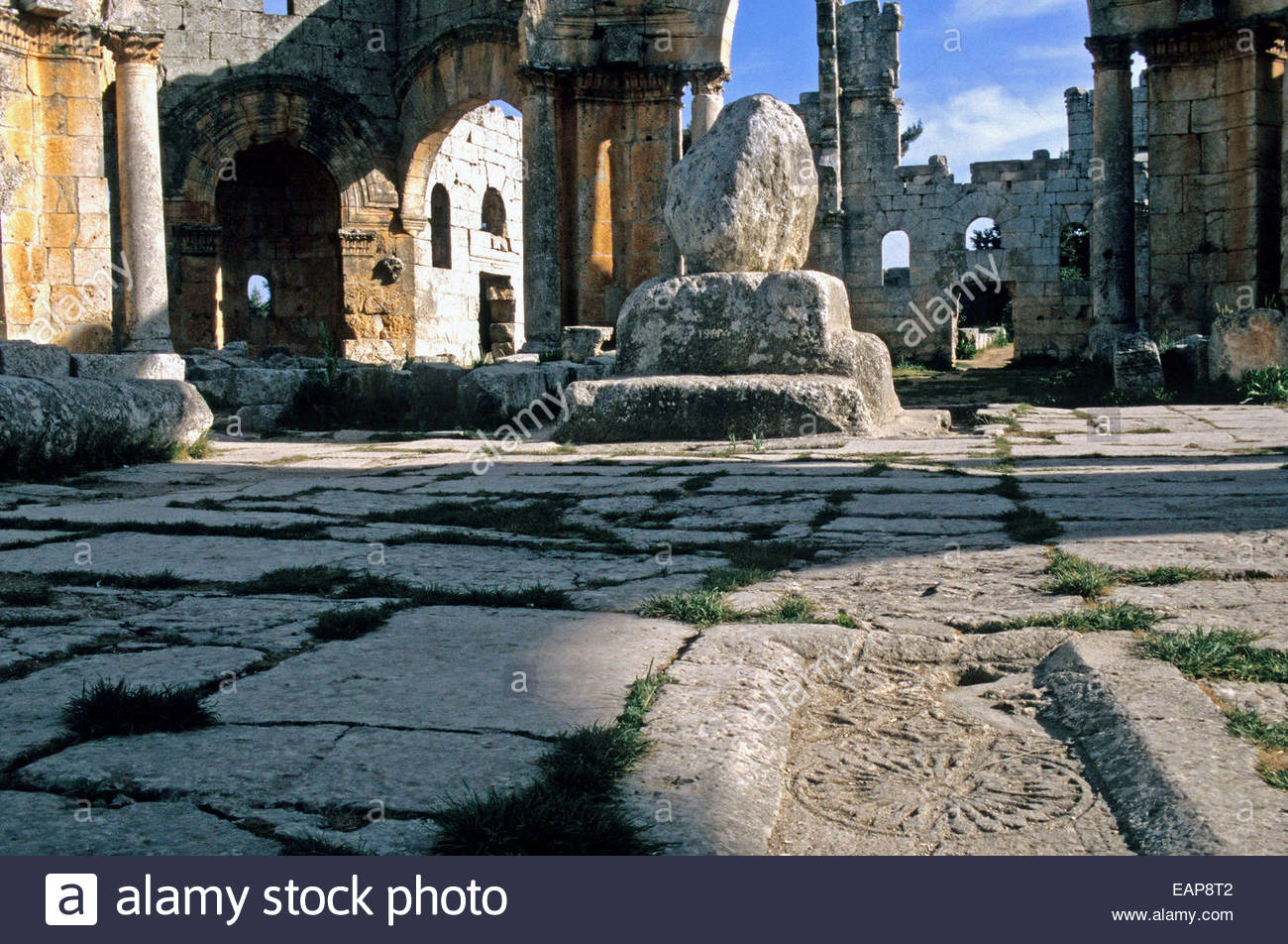 Ruins of Saint Simeon Stylistes'Basilica, Syria - Stock Image