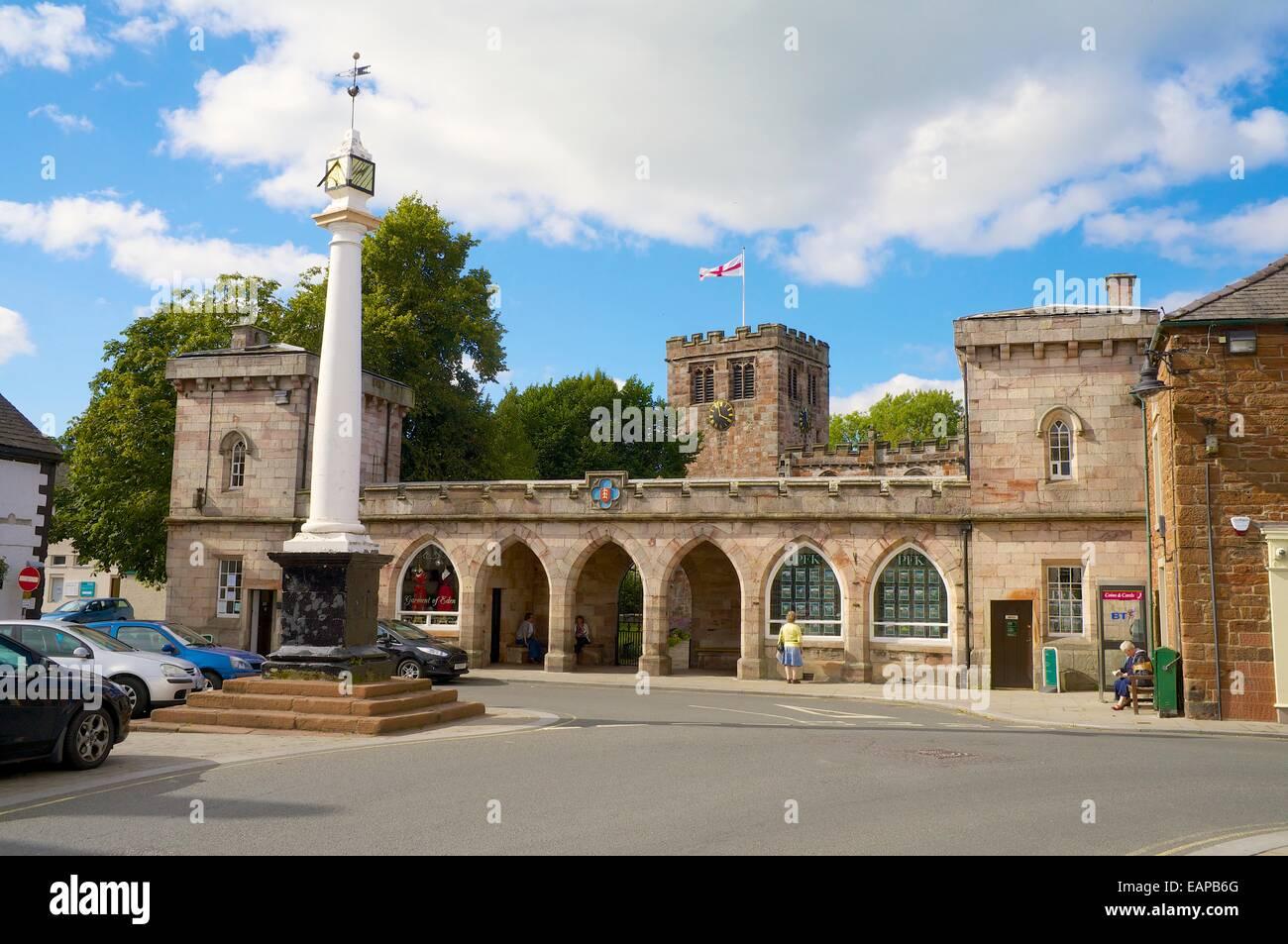 The High Cross Boroughgate. Appleby-in-Westmorland, Cumbria, England, United Kingdom. - Stock Image