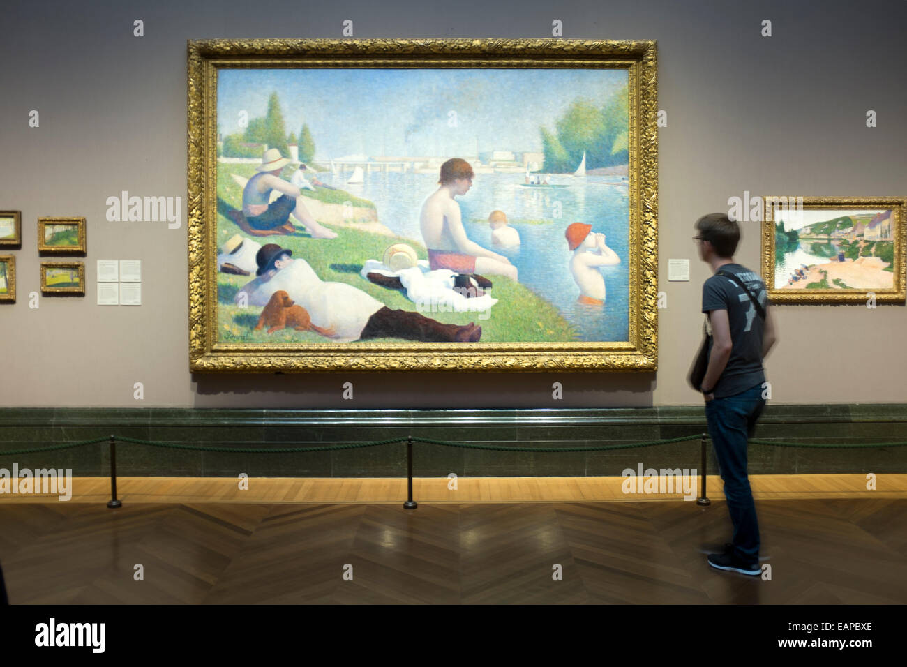 Bathers At Asnières Seurat Painting In The National Gallery Stock Photo Alamy