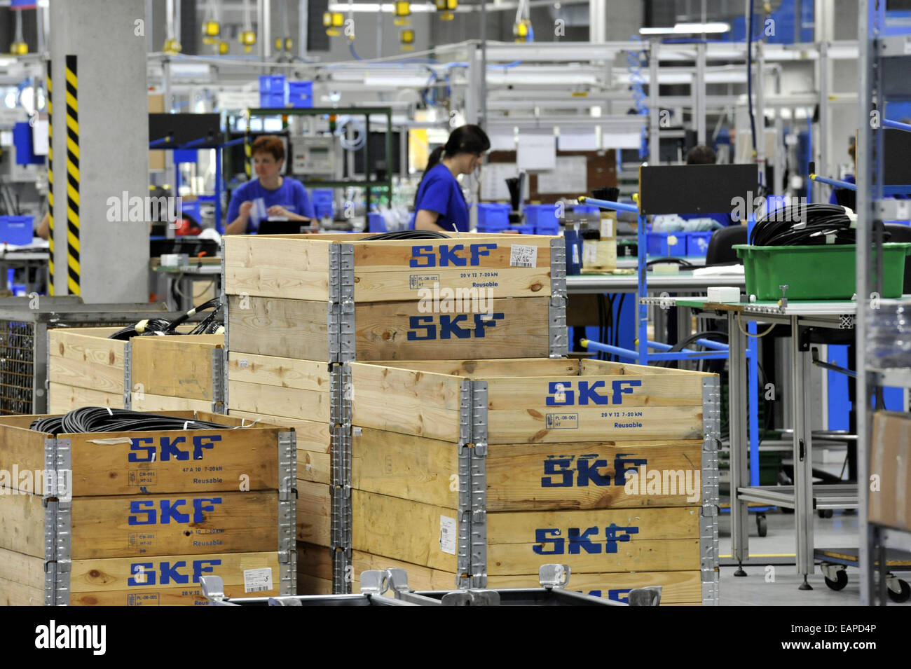 Company Lincoln CZ, part of the Swedish group SKF has doubled the area for the production of central lubrication - Stock Image