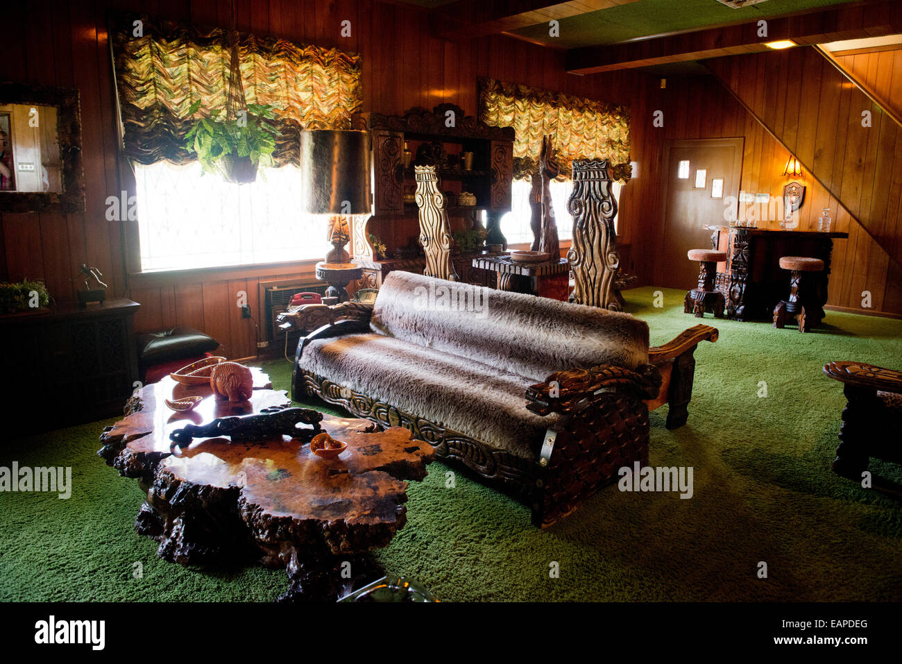 The Jungle Room. Graceland, Memphis Tennessee - Stock Image
