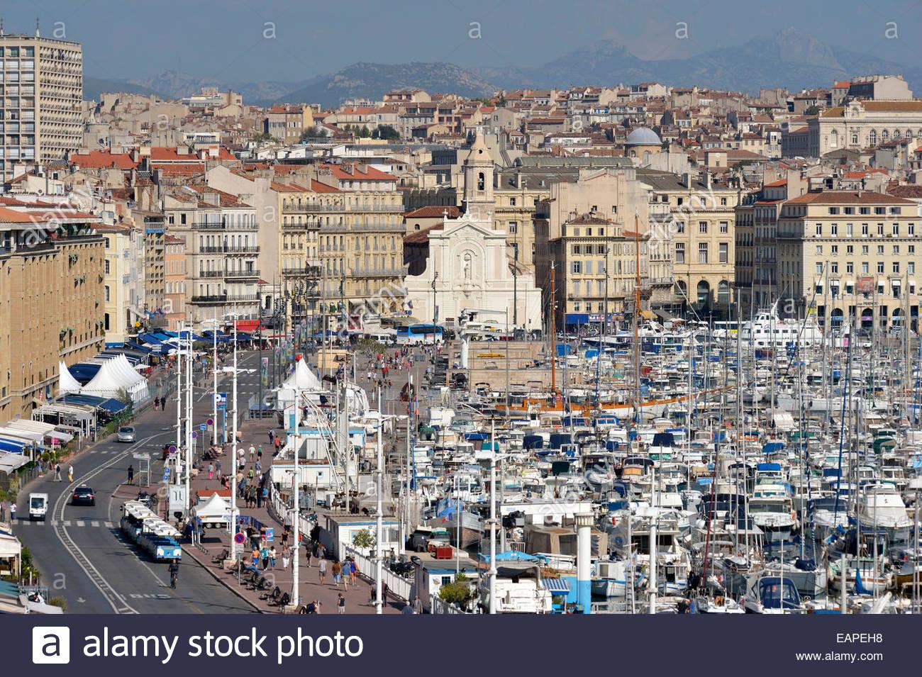 Marseille port stock photos marseille port stock images - Parking vieux port fort saint jean marseille ...