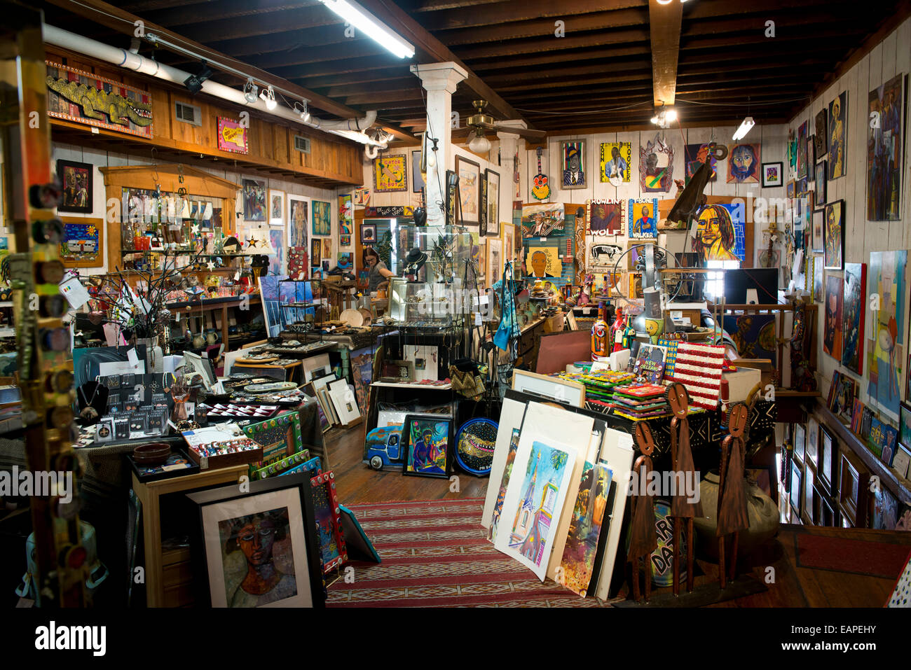 Interior of the Attic Gallery. Vicksburg Mississippi - Stock Image