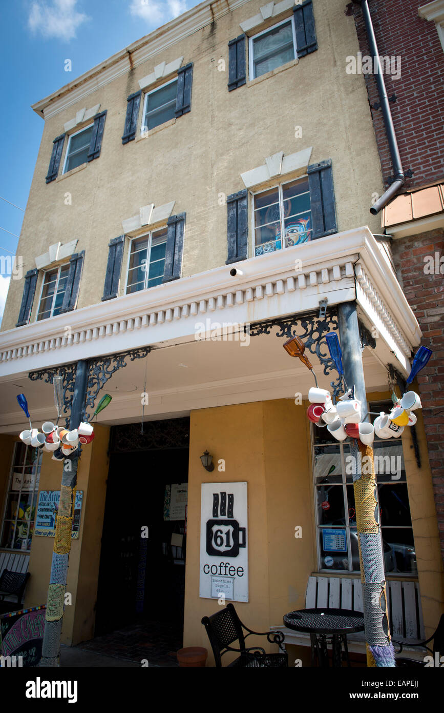 Exterior of the Attic Gallery. Vicksburg Mississippi - Stock Image