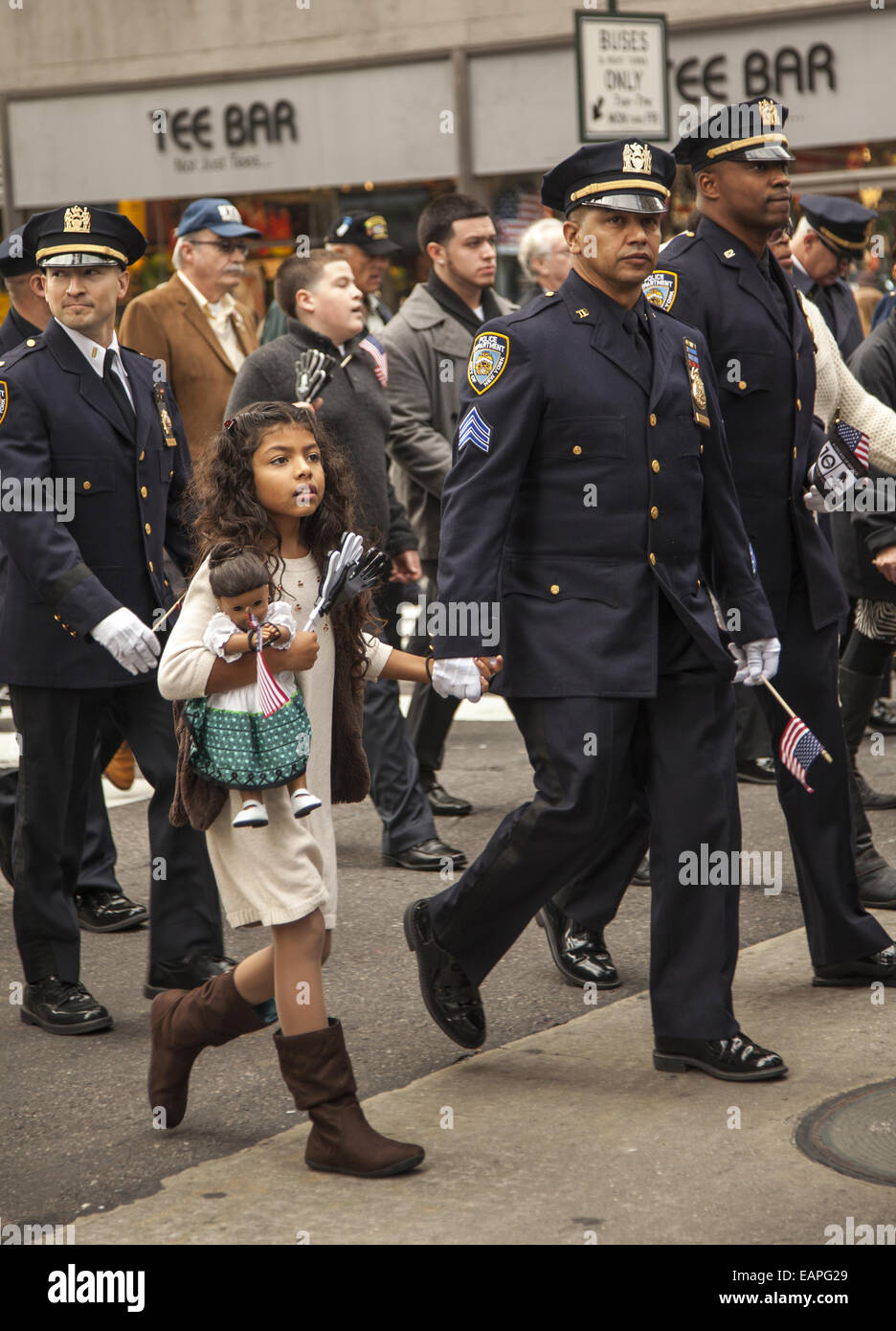 Veterans Day Parade, 5th Ave , New York City  NYC police