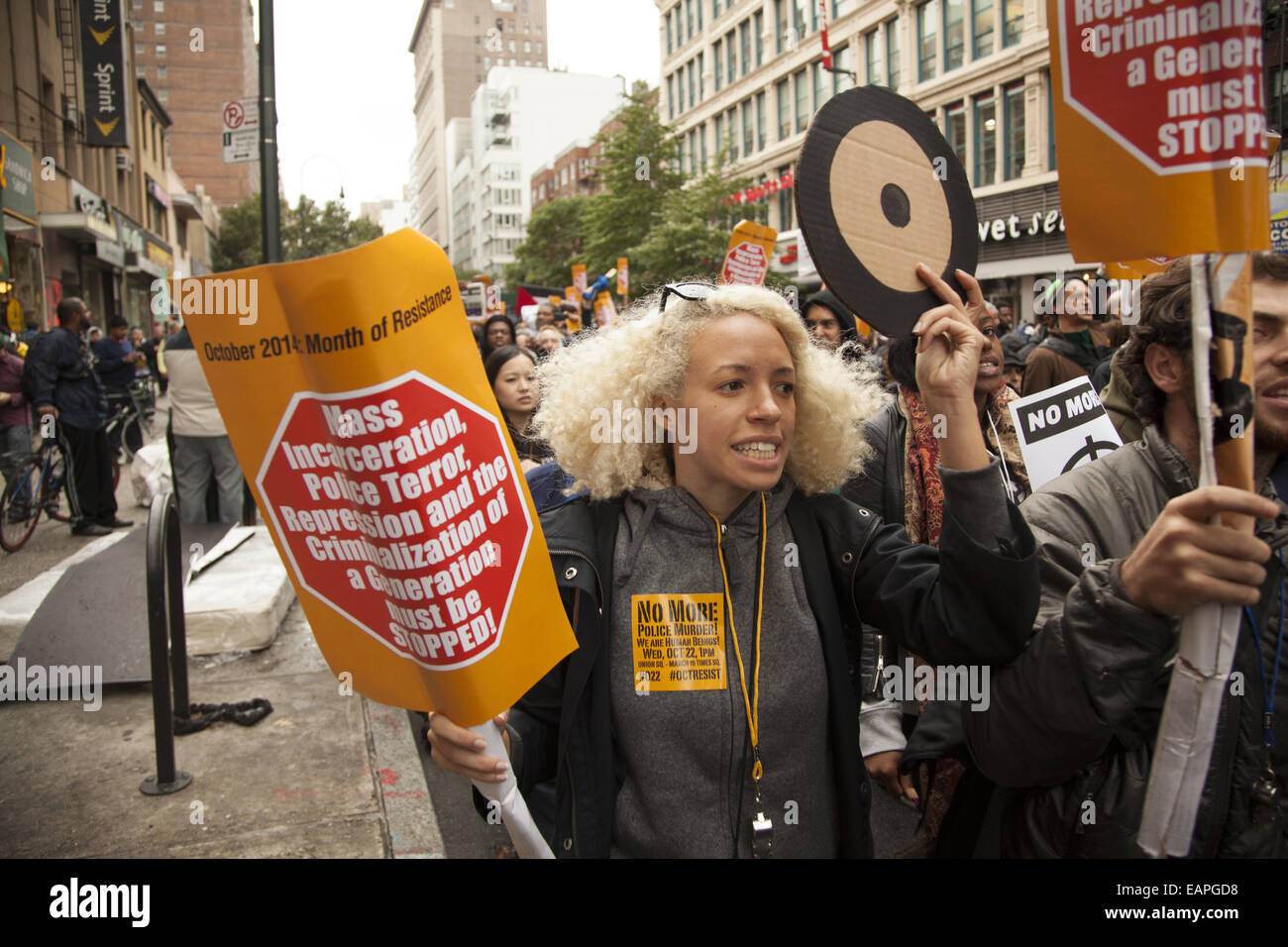 Nov 22nd yearly demonstration against police brutality and the killing of unarmed civilians in the USA. - Stock Image
