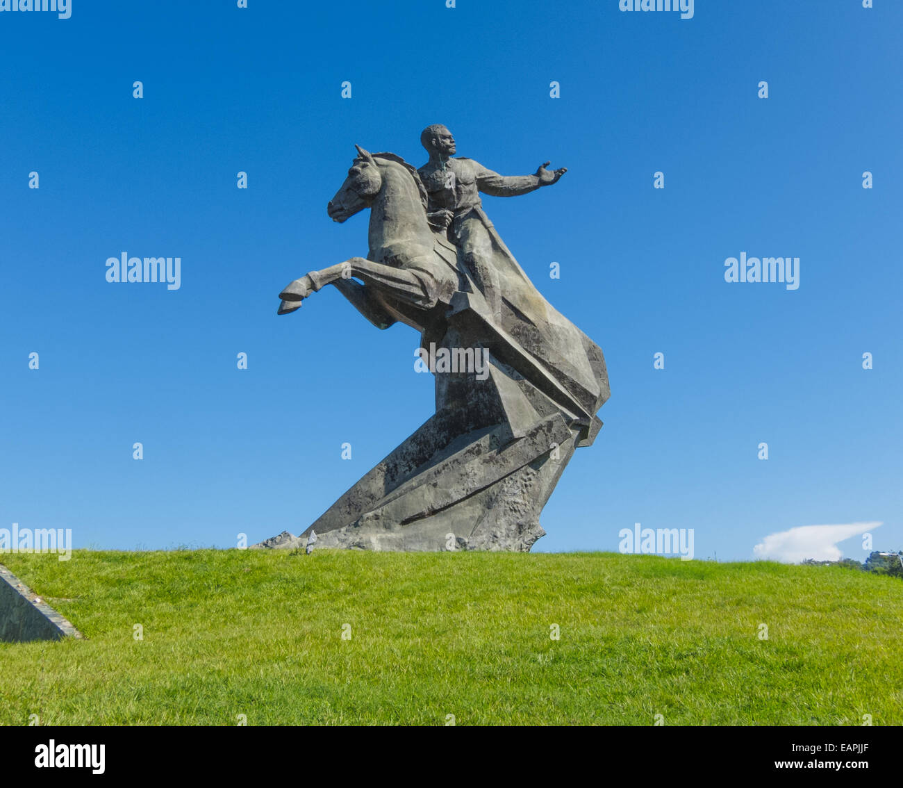 Monument of Lt. General José Antonio de la Caridad Maceo y Grajales on Plaza de la Revolucion in Santiago de - Stock Image
