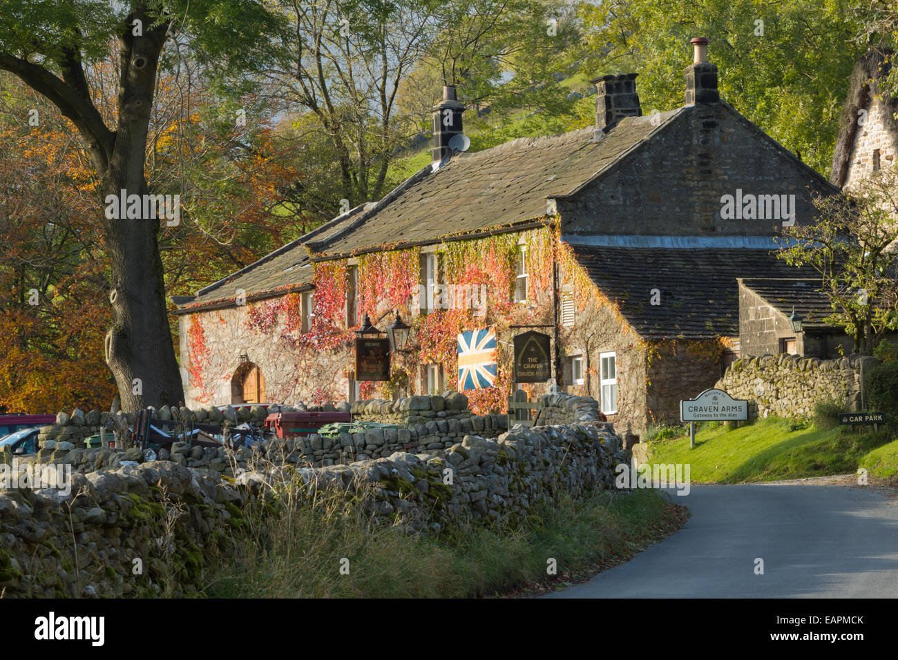 The Craven Arms, Appletreewick, Wharfdale in The Yorkshire dales, England. - Stock Image