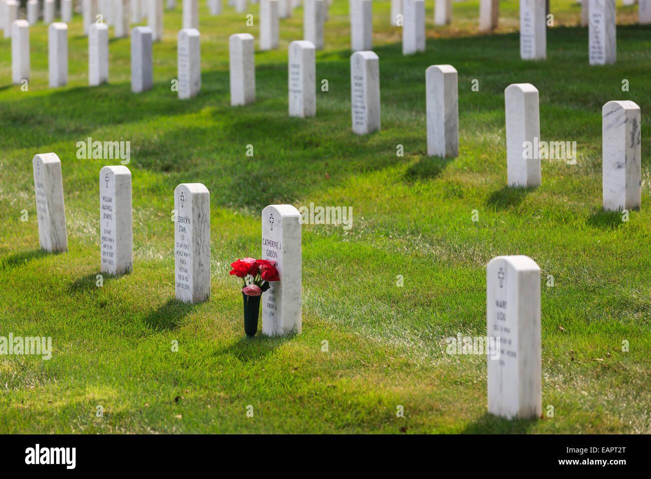 Arlington National Cemetery, Virginia, USA - Stock Image