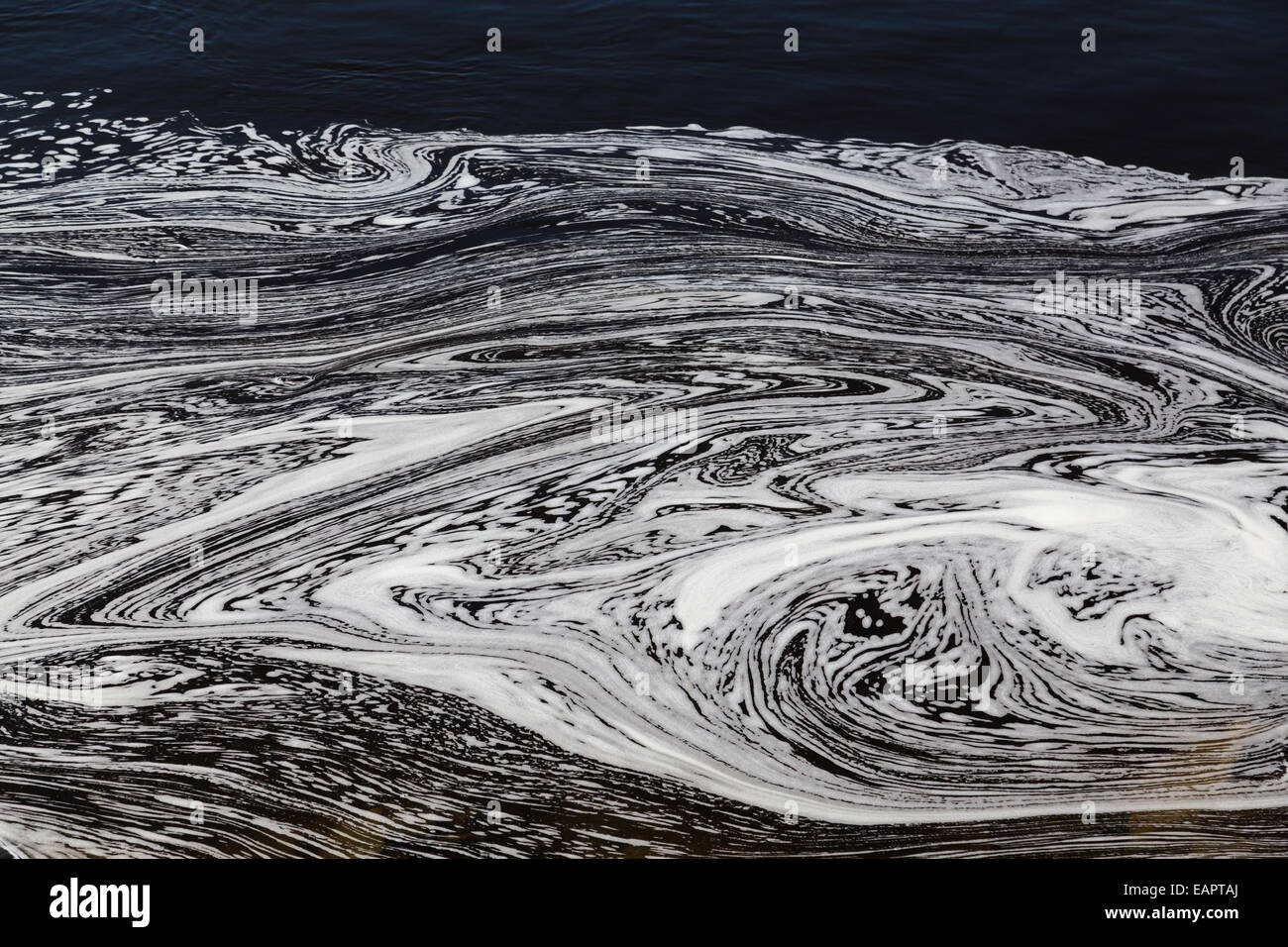 Water with Swirly Patterns in Ottawa River - Stock Image