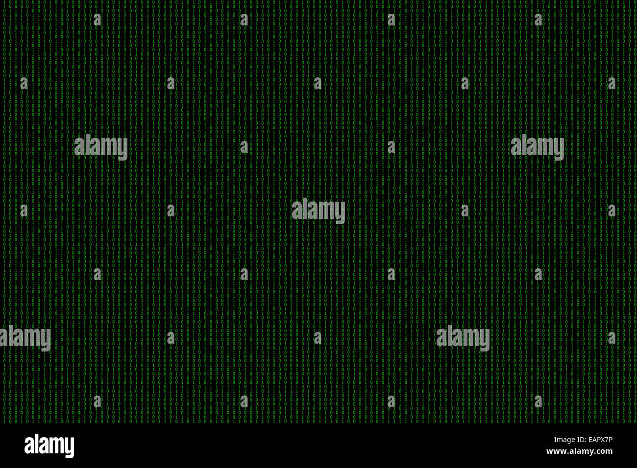 Binary computer code green background. - Stock Image